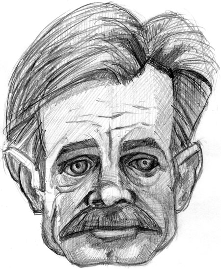 caricature of william h. macy