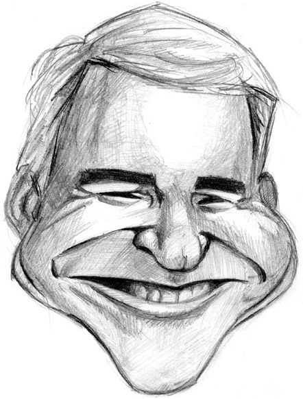 caricature of steve martin