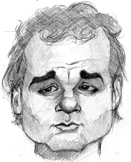 caricature of bill murray