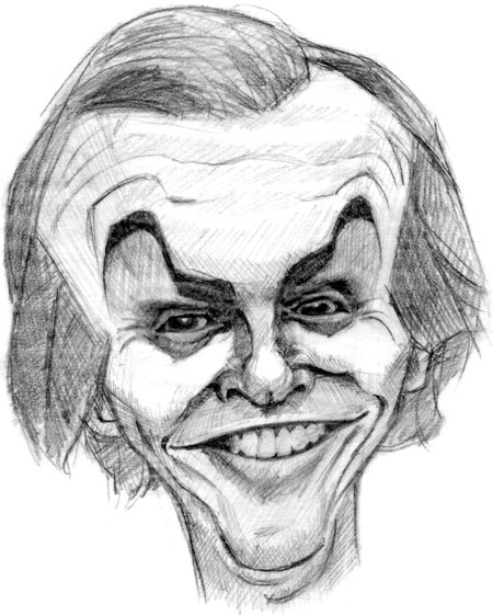 caricature of jack nicholson
